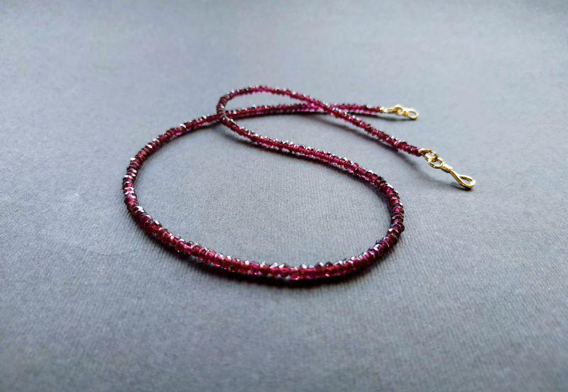 Ожерелье из коллекции «Life line» Арт. N180888LL Гранатовый Гранат (ювелирный), латун Богомолова Светлана - фото 3