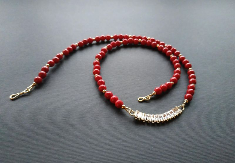 Браслет из коллекции «Red thread» Арт. B111228RTH Красный Агат, кристаллы Swarovski Богомолова Светлана - фото 2