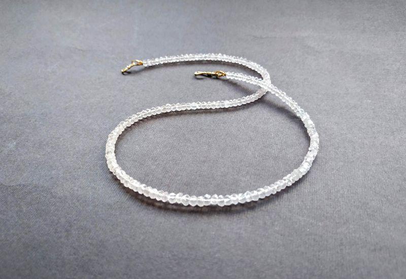 Ожерелье из коллекции «Line of love» Арт. E4121963LL Белый Розовый кварц (ювелирный) Богомолова Светлана - фото 3