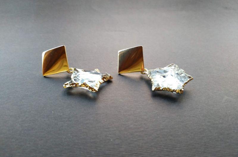 Серьги из коллекции «Jouet de hochet» Арт.E13788JDH Желтый Горный хрусталь, латунь, Богомолова Светлана - фото 5