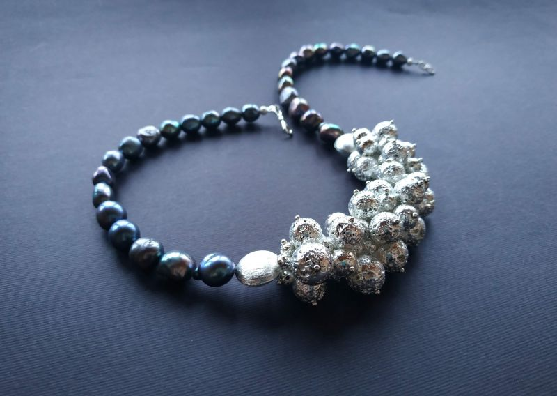 Ожерелье из коллекции «Star sea» Арт. N7388SS Синий Жемчуг пресноводный (серо Богомолова Светлана - фото 2