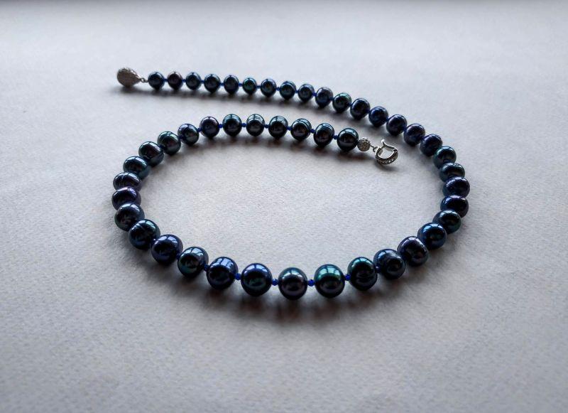 Колье из коллекции «Galaxie - Constellation du Serpent» Арт. N22188GDS Синий Жемчуг морской (культивир Богомолова Светлана - фото 5