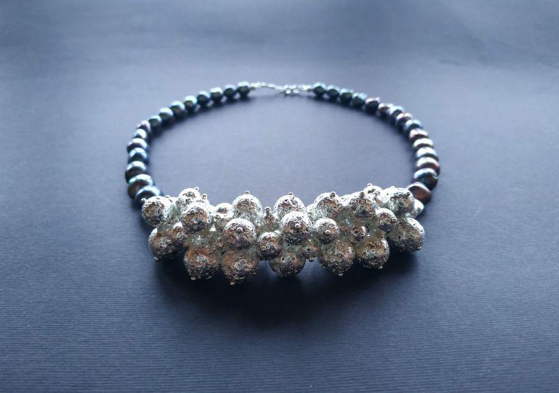 Ожерелье из коллекции «Star sea» Арт. N7388SS Синий Жемчуг пресноводный (серо Богомолова Светлана - фото 8
