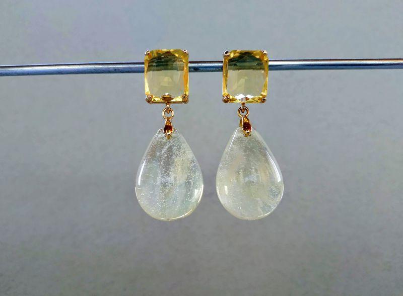 Серьги из коллекции «Soleil dans un verre» Арт. 8788SDUV Белый Лунный камень (санидин), Богомолова Светлана - фото 8