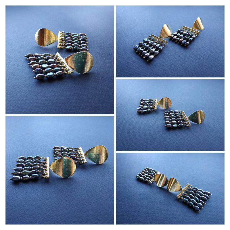Серьги из коллекции «Tau Kita» Арт. E31719TK Голубой Жемчуг пресноводный (серо Богомолова Светлана - фото 8