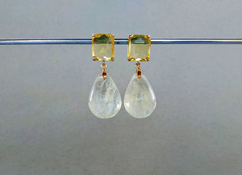 Серьги из коллекции «Soleil dans un verre» Арт. 8788SDUV Белый Лунный камень (санидин), Богомолова Светлана - фото 3