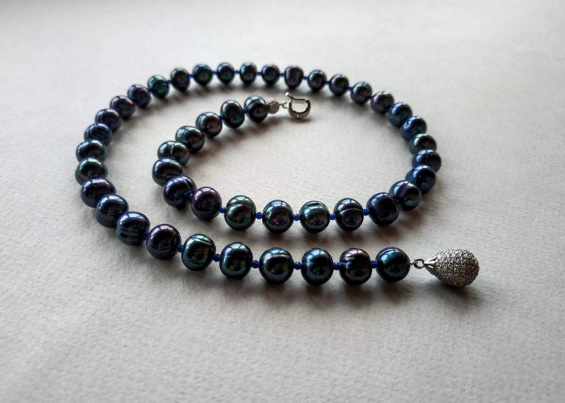 Колье из коллекции «Galaxie - Constellation du Serpent» Арт. N22188GDS Синий Жемчуг морской (культивир Богомолова Светлана - фото 6