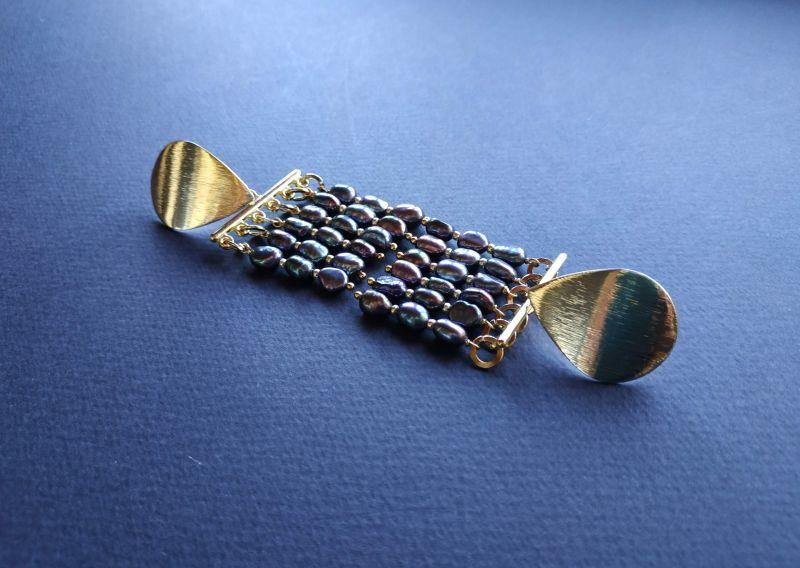 Серьги из коллекции «Tau Kita» Арт. E31719TK Голубой Жемчуг пресноводный (серо Богомолова Светлана - фото 3