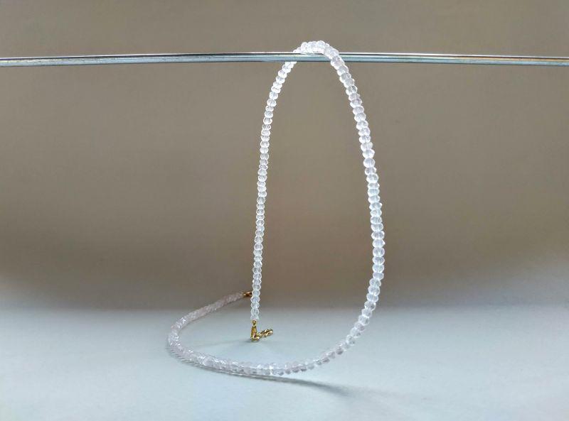 Ожерелье из коллекции «Line of love» Арт. E4121963LL Белый Розовый кварц (ювелирный) Богомолова Светлана - фото 2