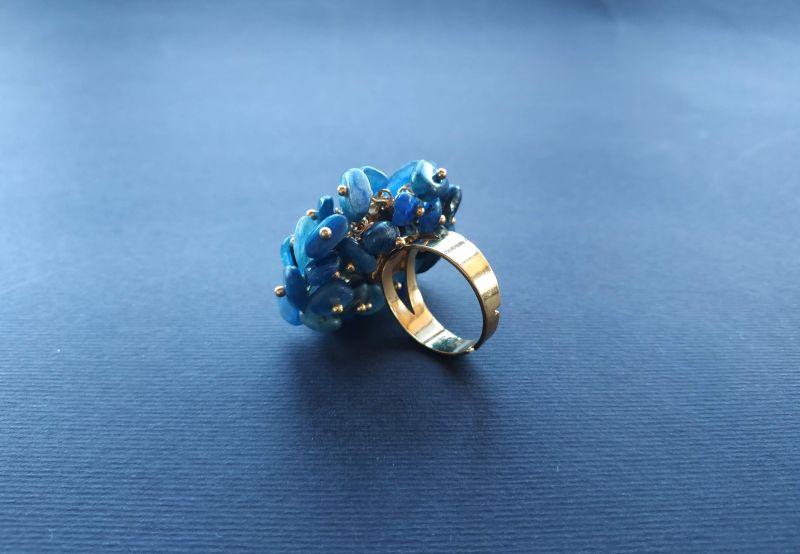 Кольцо из коллекции «Jardins De L`amour» Арт. R14920JDLA Синий Кианит, перламутр, латунь Богомолова Светлана - фото 6