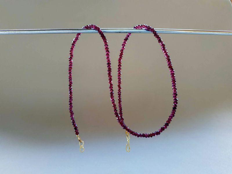 Ожерелье из коллекции «Life line» Арт. N180888LL Гранатовый Гранат (ювелирный), латун Богомолова Светлана - фото 9