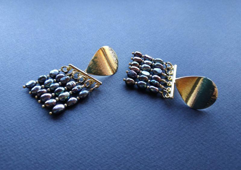 Серьги из коллекции «Tau Kita» Арт. E31719TK Голубой Жемчуг пресноводный (серо Богомолова Светлана - фото 7