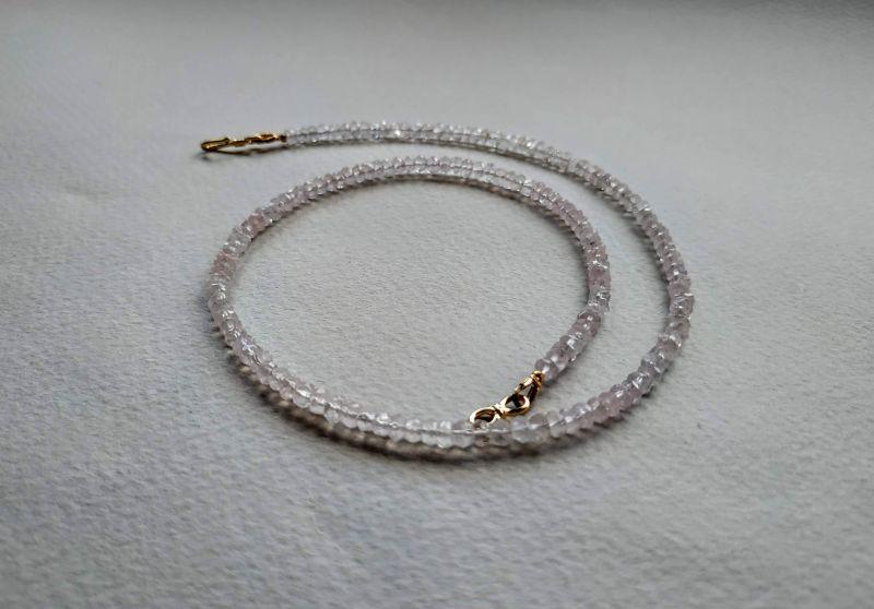 Ожерелье из коллекции «Line of love» Арт. E4121963LL Белый Розовый кварц (ювелирный) Богомолова Светлана - фото 8