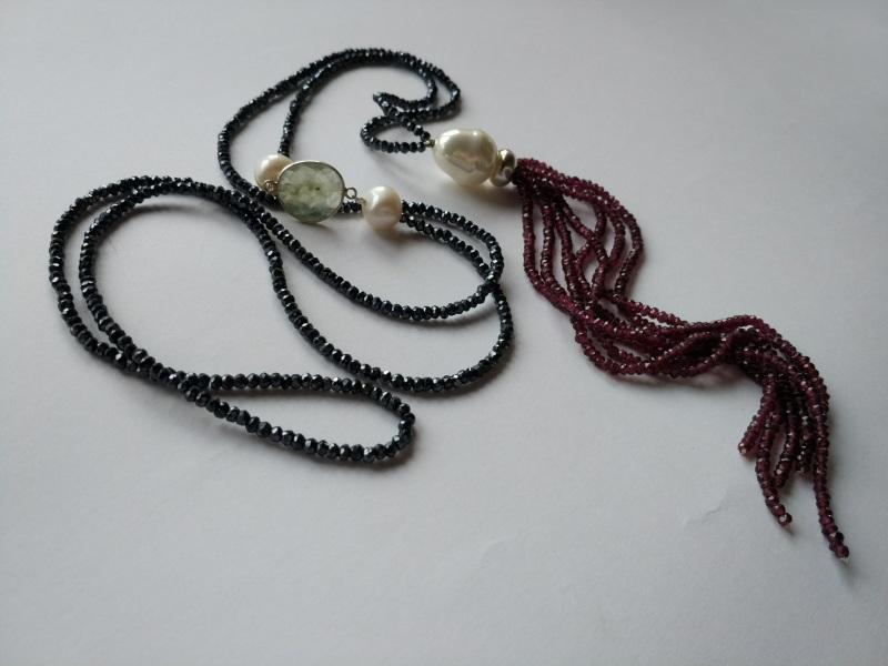 Ожерелье в стиле «Rope» из коллекции «Queen» Арт. N002Q  Шпинель серо-синяя, кварц Богомолова Светлана - фото 6