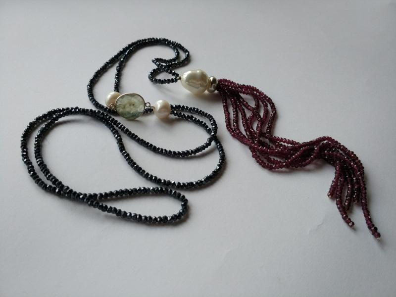 Ожерелье в стиле «Rope» из коллекции «Queen» Арт. N002Q  Шпинель серо-синяя, кварц Богомолова Светлана - фото 3