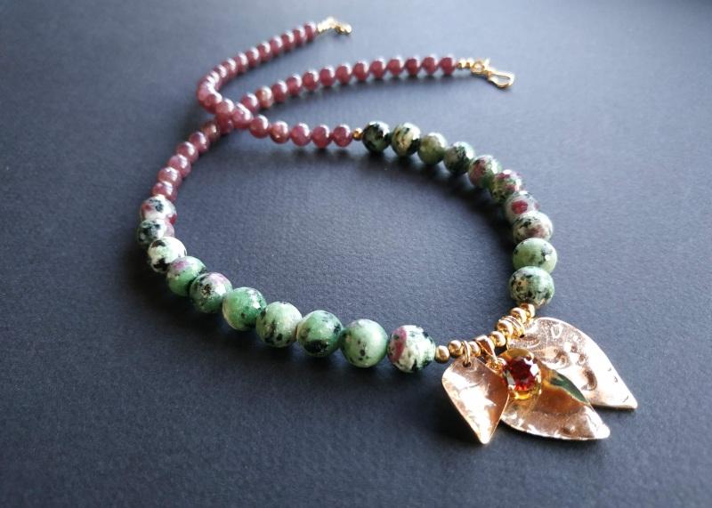 Ожерелье из коллекции «Forêt de féerie» Арт. N1819FDF Зеленый Аниолит (рубин в цоизите) Богомолова Светлана - фото 9