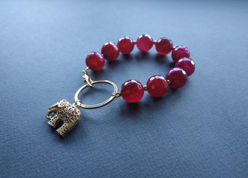 Браслет з колекції «India» Арт. B18819IND Червоний Агат, латунь, позолота 24 Богомолова Світлана - фото 5
