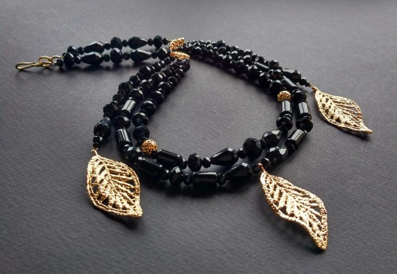 Ожерелье из коллекции «Gold of Augustus»  Арт. N1507GOFA Черный Черный оникс, латунь, поз Богомолова Светлана - фото 6