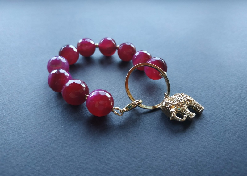 Браслет з колекції «India» Арт. B18819IND Червоний Агат, латунь, позолота 24 Богомолова Світлана - фото 2
