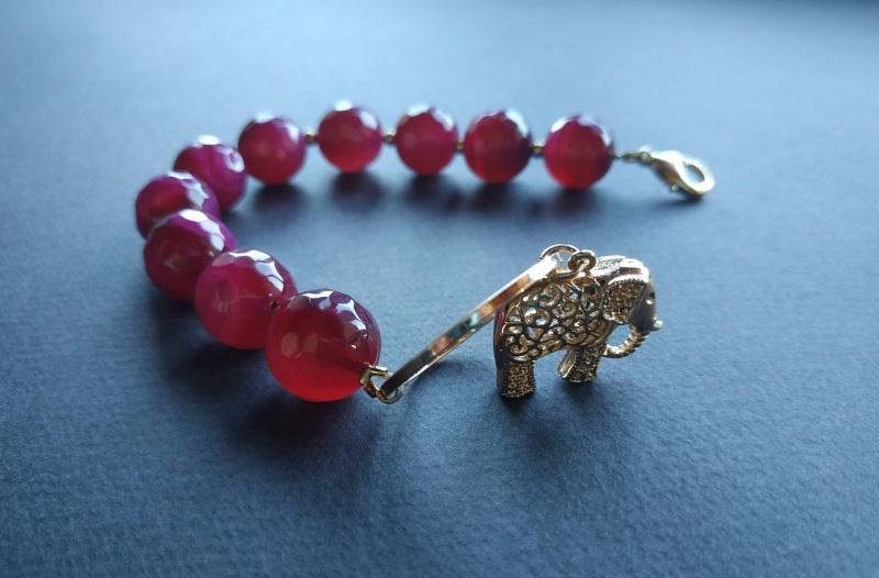 Браслет з колекції «India» Арт. B18819IND Червоний Агат, латунь, позолота 24 Богомолова Світлана - фото 8