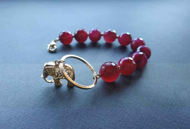 Браслет з колекції «India» Арт. B18819IND Червоний Агат, латунь, позолота 24 Богомолова Світлана - фото 9