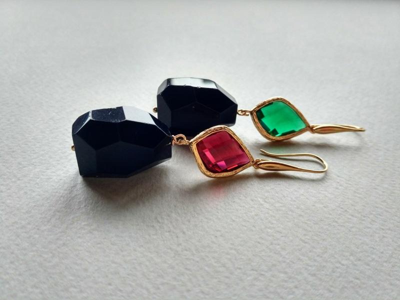 Серьги из коллекции «Orchidee Noir» Арт. E218ON Разноцветный Черный оникс, витражи, ла Богомолова Светлана - фото 4