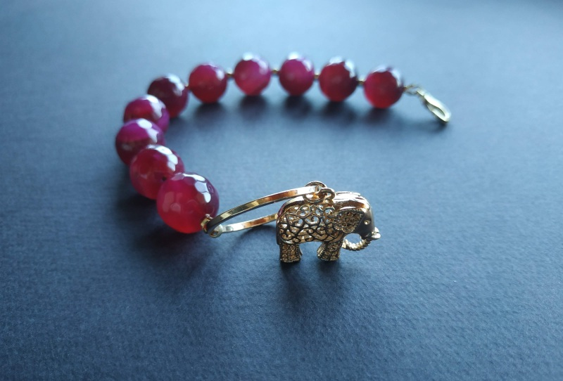 Браслет з колекції «India» Арт. B18819IND Червоний Агат, латунь, позолота 24 Богомолова Світлана - фото 4