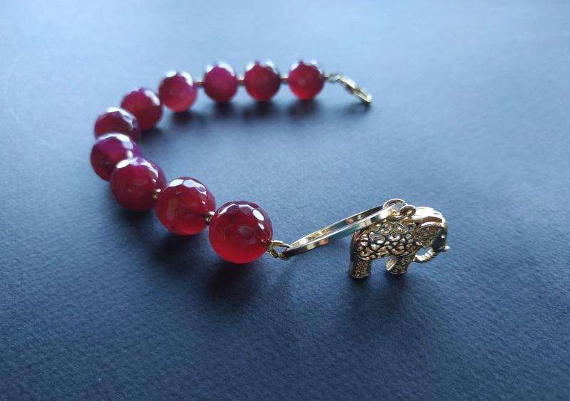 Браслет з колекції «India» Арт. B18819IND Червоний Агат, латунь, позолота 24 Богомолова Світлана - фото 3