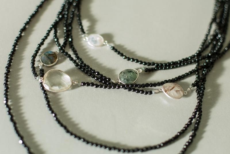 Ожерелье в стиле «Checker» из коллекции «Sky Cairo»  Арт. N002SC Черно-белый Черный Оникс, Агат, Амети Богомолова Светлана - фото 6