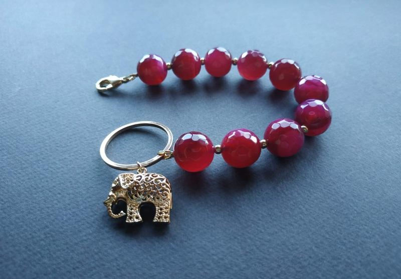 Браслет з колекції «India» Арт. B18819IND Червоний Агат, латунь, позолота 24 Богомолова Світлана - фото 6