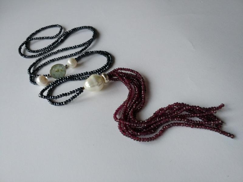 Ожерелье в стиле «Rope» из коллекции «Queen» Арт. N002Q  Шпинель серо-синяя, кварц Богомолова Светлана - фото 5