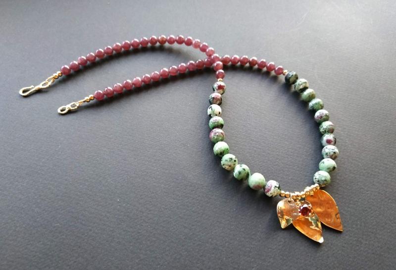 Ожерелье из коллекции «Forêt de féerie» Арт. N1819FDF Зеленый Аниолит (рубин в цоизите) Богомолова Светлана - фото 8