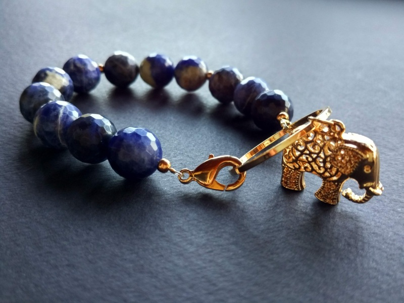 Браслет из коллекции «India» Арт. B3118IND  Содалит, латунь, позолота Богомолова Светлана - фото 7