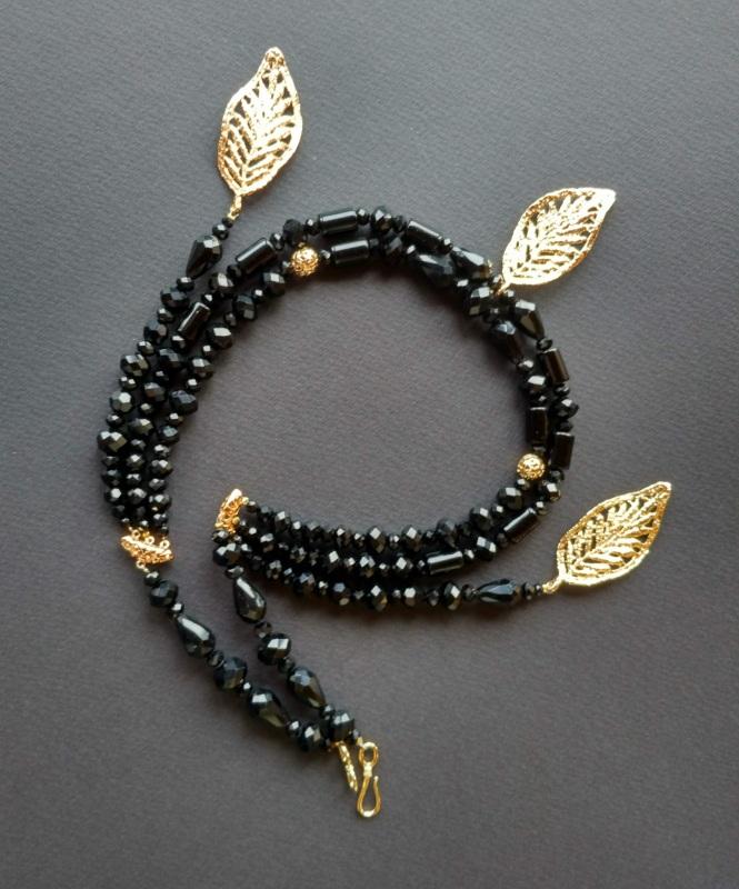 Ожерелье из коллекции «Gold of Augustus»  Арт. N1507GOFA Черный Черный оникс, латунь, поз Богомолова Светлана - фото 2