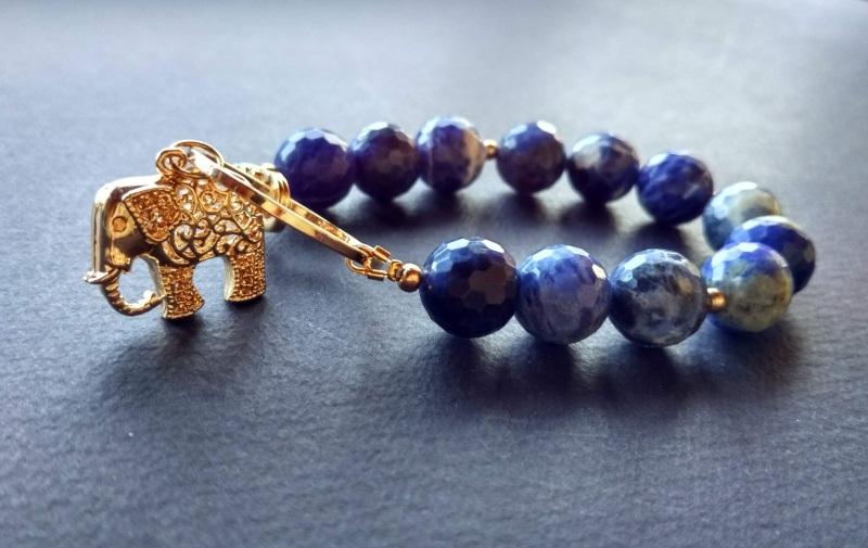Браслет из коллекции «India» Арт. B3118IND  Содалит, латунь, позолота Богомолова Светлана - фото 3
