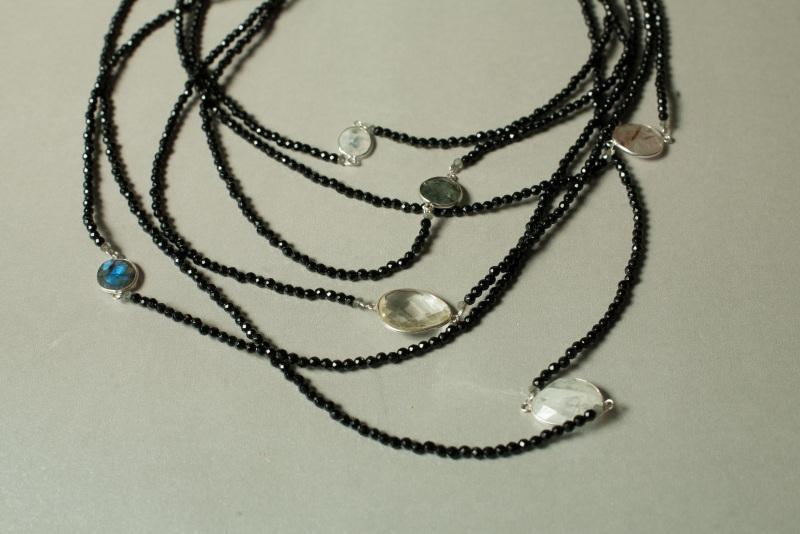 Ожерелье в стиле «Checker» из коллекции «Sky Cairo»  Арт. N002SC Черно-белый Черный Оникс, Агат, Амети Богомолова Светлана - фото 2