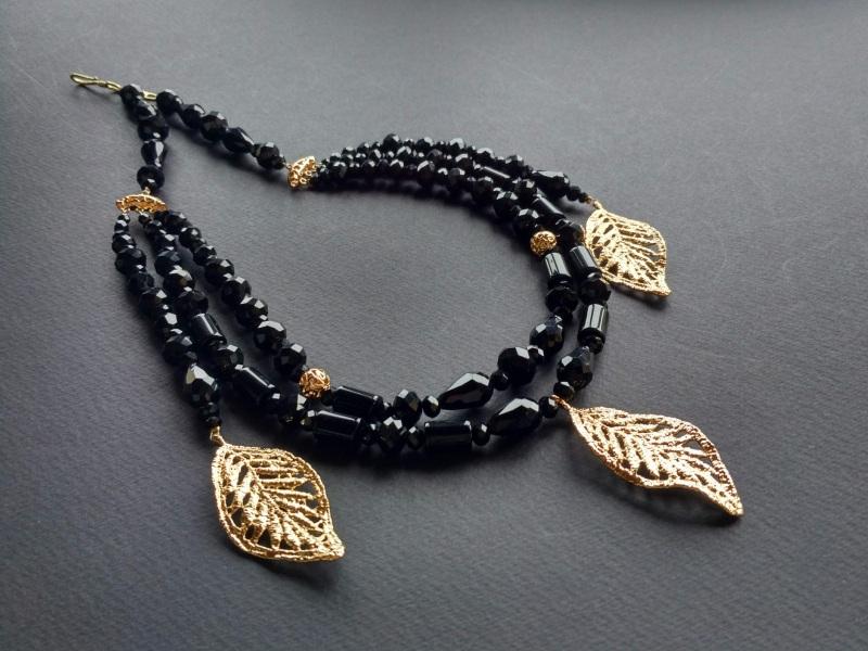 Ожерелье из коллекции «Gold of Augustus»  Арт. N1507GOFA Черный Черный оникс, латунь, поз Богомолова Светлана - фото 7