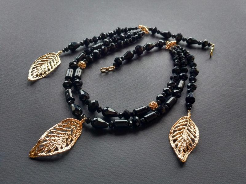 Ожерелье из коллекции «Gold of Augustus»  Арт. N1507GOFA Черный Черный оникс, латунь, поз Богомолова Светлана - фото 3