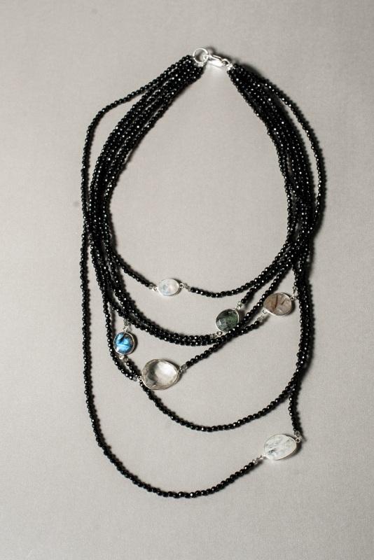 Ожерелье в стиле «Checker» из коллекции «Sky Cairo»  Арт. N002SC Черно-белый Черный Оникс, Агат, Амети Богомолова Светлана - фото 5