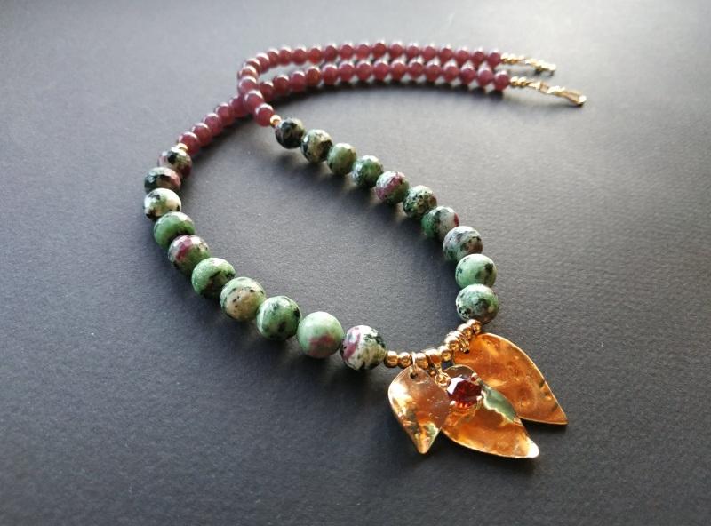 Ожерелье из коллекции «Forêt de féerie» Арт. N1819FDF Зеленый Аниолит (рубин в цоизите) Богомолова Светлана - фото 7