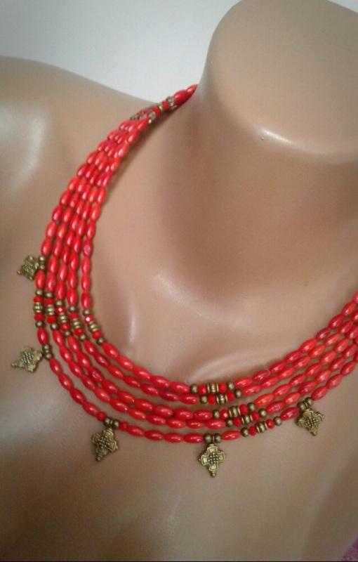 Магдалена Красный натуральный коралл, хруст Борусовська Наталья - фото 2