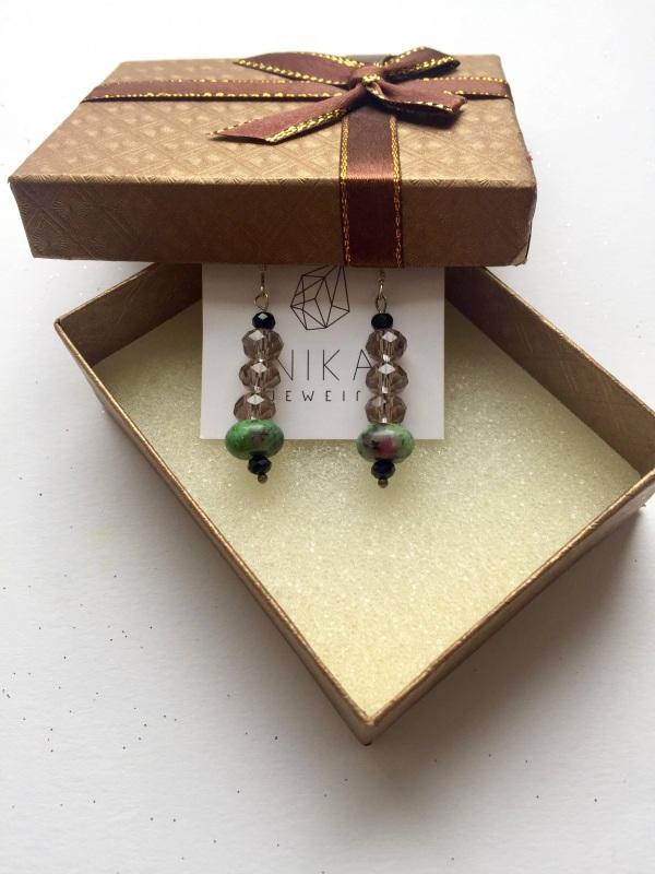 Подарочный набор к праздникам Разноцветный Серебро, камни, микс буси Билокобыльска Полина - фото 4