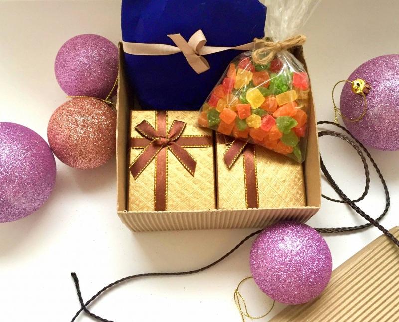 Подарочный набор к праздникам Разноцветный Серебро, камни, микс буси Билокобыльска Полина - фото 2