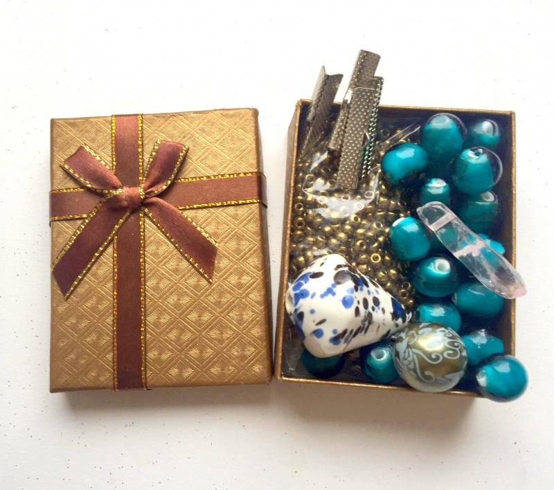 Подарочный набор к праздникам Разноцветный Серебро, камни, микс буси Билокобыльска Полина - фото 5