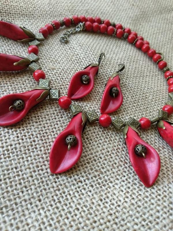 Каллы Красный Фурнитура бронзового цвет Черняк Елена - фото 1