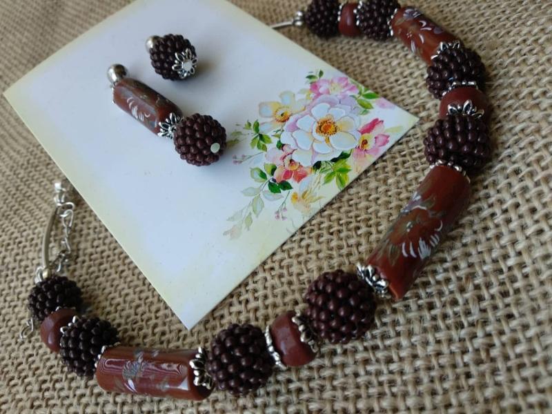 Шоколадка Гранатовый Фурнитура серебряного цве Черняк Елена - фото 1