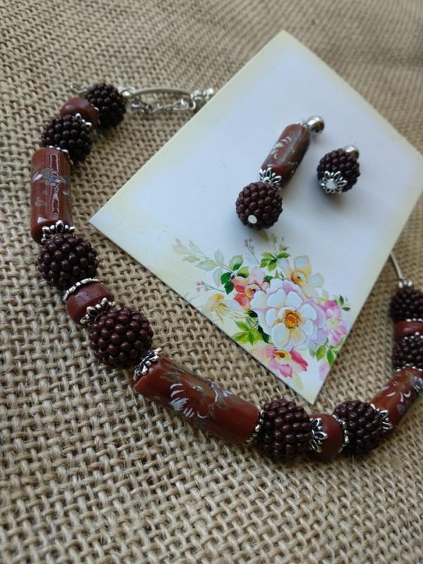 Шоколадка Гранатовый Фурнитура серебряного цве Черняк Елена - фото 3
