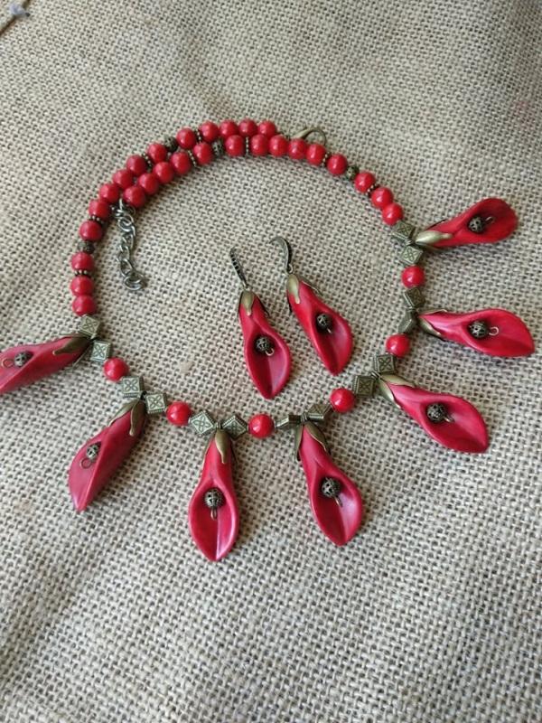 Каллы Красный Фурнитура бронзового цвет Черняк Елена - фото 3