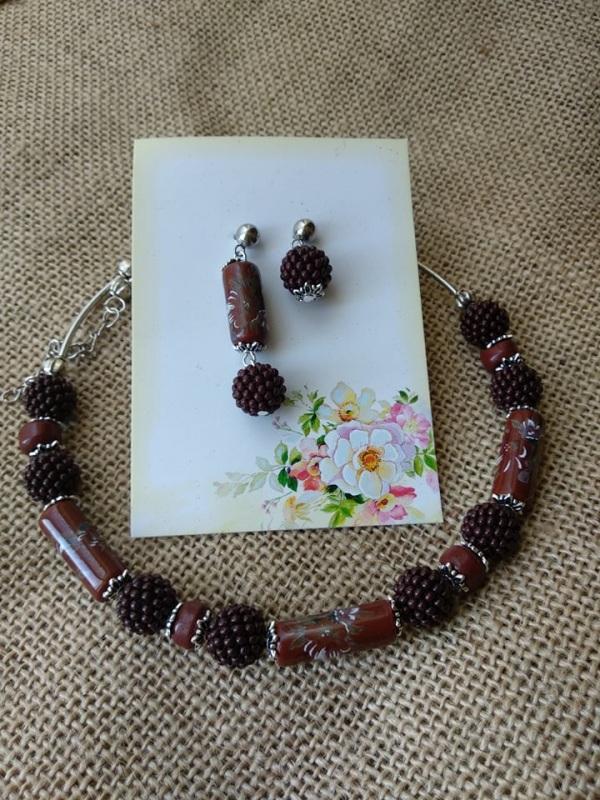 Шоколадка Гранатовый Фурнитура серебряного цве Черняк Елена - фото 2