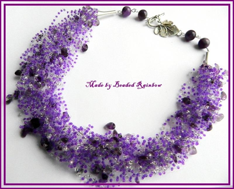 Аметистовое ожерелье Фиолетовый Чешский бисер Preciosa, я Дацишина Олеся - фото 1